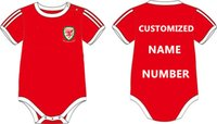 bale baby - 2016 New cotton Baby onesie romper soccer baby Wales kids ERUO jersey BALE home red away black RAMSEY for M Free Shipment