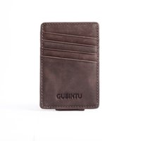 american coin collection - The new GUBINTU GuBin figure Leather man chuck layer USES high grade gift card the collection bag
