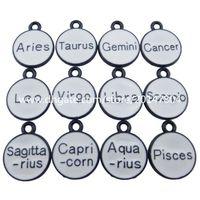aries jewelry - 19225 Fashion Women Jewelry White Enamel Constellation Horoscope Zodiac Pendant Sagittarius Scorpio Gemini Cancer Aries Libra