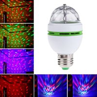 Wholesale High Quality E27 W Colorful Auto Rotating RGB LED Bulb Stage Light Party Lamp Disco Led Lights Lamps
