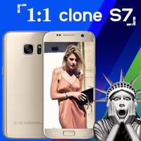 Android 64-Bit Quad Core 1GB 2016 New Arrival Real 4G LTE S7 s7 Phones 1:1 MTK6582 64bit Quad Core Dual SIM 1920x1080pixel 1GB 8GB Android 5.1 GPS Smartphone