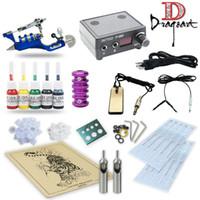 Wholesale Good Quality Best Price USA Pro Tattoo Kit Rotary tattoo Machines Guns Power supply Ink TK11