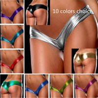 Wholesale Women Underwear Thong Panties Sexy Strings T Pants Lingerie Metallic Micro Shorts Panty Thongs Briefs SC