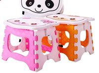 Wholesale Portable Children Cartoon Small Folding Stool Travel Camping Child Plastic Stool Fishing Stool for Kids Adult Fast Shipping