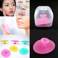 Wholesale New Soft Silicone Oval Blackhead Remover Facial Brush Cleansing Pad Baby Head Washing Skin Care Beauty