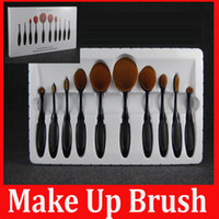 angels brushes - 10pcs MULTIPURPOSE Make Up Brush The Beginning of Beauty Angel Artis Bendable Toothbrush Foundation Powder Soft Face Brushes In Stock