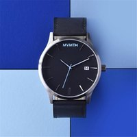 auto simple - 2016 luxury brand Men s watch Leather band Relojes Mens MVMT Watches mm Quartz Watch Simple Women s Wristwatches