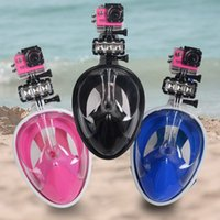 Wholesale Diving Masks Dry Snorkeling Mask Set Underwater Diving Scuba Anti Fog Full Face Swimming Training Mask for Gopro Camera b467