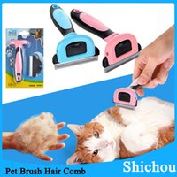 Wholesale Dog Cleaning Grooming Professional Dog deShedding Tool Cleaning and Grooming Hair Brush Comb Dogs Cat Pet Supply Products with Retail Box