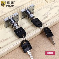 Wholesale Computer desk drawer lock wardrobe a lock three interlocking front lock lock wardrobe conjoined to tongue lock