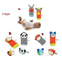 Wholesale Wholesales New Style rattle Wrist donkey Zebra Wrist Rattle and Socks toys set wrist socks