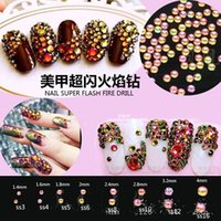 Wholesale Super Flash Fire Flat Back Rhinestones SS3 SS16 Shiny Bling DIY Decorations For Nail Cell Phone Car Decoration OPP bag