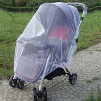 Wholesale Fashion Hot White Baby Children Buggy Pram Pushchair Mosquito Net Fly Midge Insect Bug Cover Stroller Protector