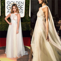 Wholesale Golden Globes Marchesa Fashion Elie Saab Celebrity Dresses One Shoulder Formal Wear Chiffon Red Carpet Evening Gowns with Pleat