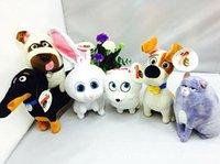 al por mayor juguete de peluche bulldog-La vida secreta de las Mascotas juguetes de peluche de juguete relleno de la bola de nieve Max Chloe bulldog relleno muñeca suave para regalo de los niños 2016 nuevo regalo