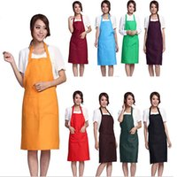 bib craft - 5Pcs Plain Apron with Front Pocket Bib for Chefs Butchers Kitchen Cooking Craft Baking Home Cleaning Tool Adult Teenage College Clothing