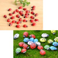 Wholesale 1000Pcs lady beetle Bonsai Decorations Lady Bug Coccinella wood crafts DIY little Garden Decor Creative potted flowerpot decorations