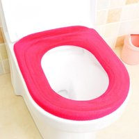 Wholesale Comfortable toilet seat cover soft flock printing warm toilet ring mat high quality general toilet seats pad