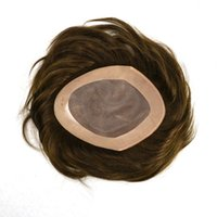 thin skin wig - Super Durable Thin Skin toupee Silicone Base Men hair Wig Hair Prosthesis with Indian Remy Hair