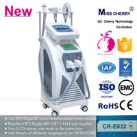 Wholesale hair removal skin rejuvenation tattoo removal two color screen SHR OPT Elight RF ND YAG Laser Machine CR E832 with certificates