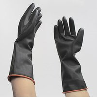 Wholesale Newly Pair Long Sleeve Working Gloves Waterproof Latex Protective Glove Safety Gloves Home Kitchen Cleaning Supplies YS0111