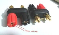 banana plugs gold dual - 3 gold plated Dual Insulated Amplifier Binding Post for mm Banana Plug