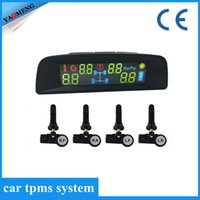 automotive tyres - TPMS LCD Display Car Wireless Tire Tyre Pressure Monitoring System Internal Sensors For Cars Solar Power TP9N from Yaomeng