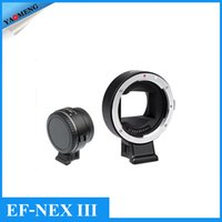 Wholesale VILTROX EF NEX III Auto Focus Canon EF Lens to Sony NEX Adapter for Full frame A7 A7R A7S Cameras with optical lenses autofocus Aperture i