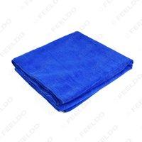 Wholesale 10pcs Large x160CM Blue Microfiber Towel Car Auto Wash Cleaning Polish Cloth long life time