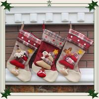 Wholesale 2016 Christmas Decoration Santa Claus Christmas Socks Christmas Gift Christmas Candy Bag Styles