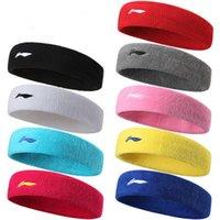 Wholesale fashion Sports headbands men and women movement turban absorbent with tennis basketball running cotton headband hairdo helmet