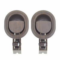 Wholesale 2PCS Furniture Parts Oval Recliner Sofa Chair Release Lever Handle Brown Hard Plastic