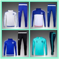 Wholesale Champions League Training suit Survetement Football Chelsea tracksuit Top Thai Quality Chelsea Training football jogging football