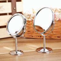 Wholesale Creative Metal Desktop Makeup Mirror Reversible Magnifying Mirror Small Rotating Mirror Magnification Function