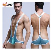 wrestling belt - brand mens undershirt mesh guze sport wrestling singlet underwear sexy tank tops men bodysuit undershirt jumpsuit belts