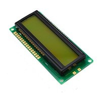 Wholesale Serial Basic x2 Character LCD Black on Green V UART