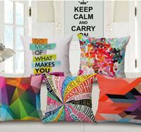 Wholesale 45x45cm D geometric wave lantern cushion cover decorative throw pillows case for sofa home decor pillowcase almofadas