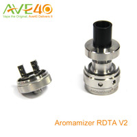 Steam Crave Aromamizer RDTA V2 Tank 3ml RDA Style Build Deck Quatre grands trous pour le flux d'air réglable vs Geekvape Tsunami