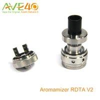 Vapor Crave Aromamizer RDTA V2 tanque 3 ml RDA estilo de composición baraja de cuatro agujeros grandes para Flujo de aire ajustable vs Geekvape Tsunami