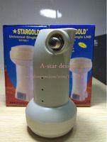 Wholesale StarGold waterproof Best Signal digital HD Universal KU Band Single LNB satellite Dish lnb High Gain dB noise