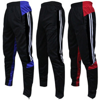 active cycling - Football pants feet pants training pants pants pocket with zipper receive running fitness cycling shorts male sports pants Men s football