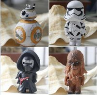 Wholesale 2016 children PVC Keychains Key Ring Star Wars Starwars Toys The Force Awakens BB8 BB Droid Robot Kelo Chewbacca Pendant Action Figure