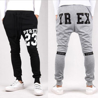 bandana pocket - Pyrex sarouel baggy tapered bandana pant hip hop dance harem sweatpants drop crotch pants men parkour sport track trousers