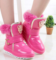 Wholesale 2016 new autumn winter children boots boys girls unisex kids shoes PU leather solid color fashion boots with fur leopard