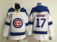 Wholesale 2016 Newest Men s Chicago Cubs bryant white Hoodies Jersey Cheap jerseys Size M XXXL