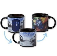 Wholesale doctor who mug disappearing tardis mug with original box awesome heat sensitive police coffee cup doctor who disappeared color change mug