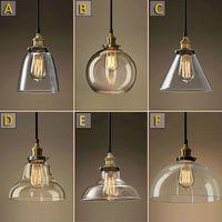 clothing store - Retro Vintage Industrial Pendant Glass Ceiling Chandelier Light Lamp Bar Lamp Clothing Store Fixtures Hanging Pendant Lights
