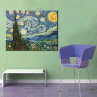 Wholesale high quality hand painted oil painting of modern home living room office decoration Van gogh