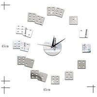 decorative clock wall clock - Living Room Decorative Wall Sticker Clock DIY Acrylic Mirror Wall Clock Mahjong Boson Creative Gift Art Watch