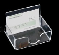 Wholesale FM0115 US Acrylic Namecard Holder Box Desk Organizer Rack cm mm thickness MOQ STOCK
